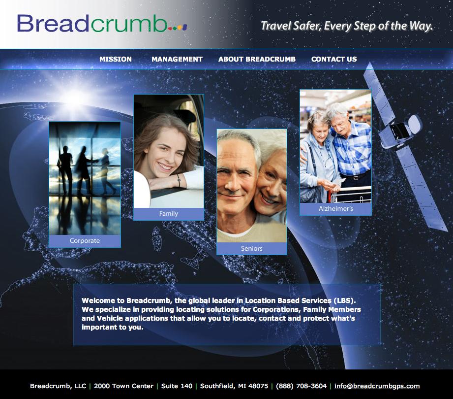 Breadcrumb Web Home Page